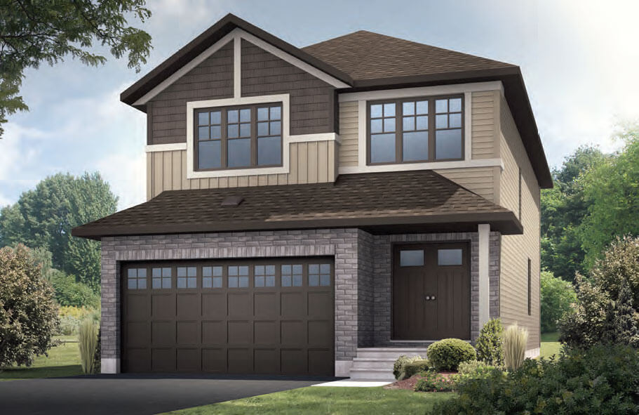 New home in SUTTON in Blackstone in Kanata South, 2,366 SQFT, 4 Bedroom, 2.5 Bath, Starting at 726,000 - Cardel Homes Ottawa