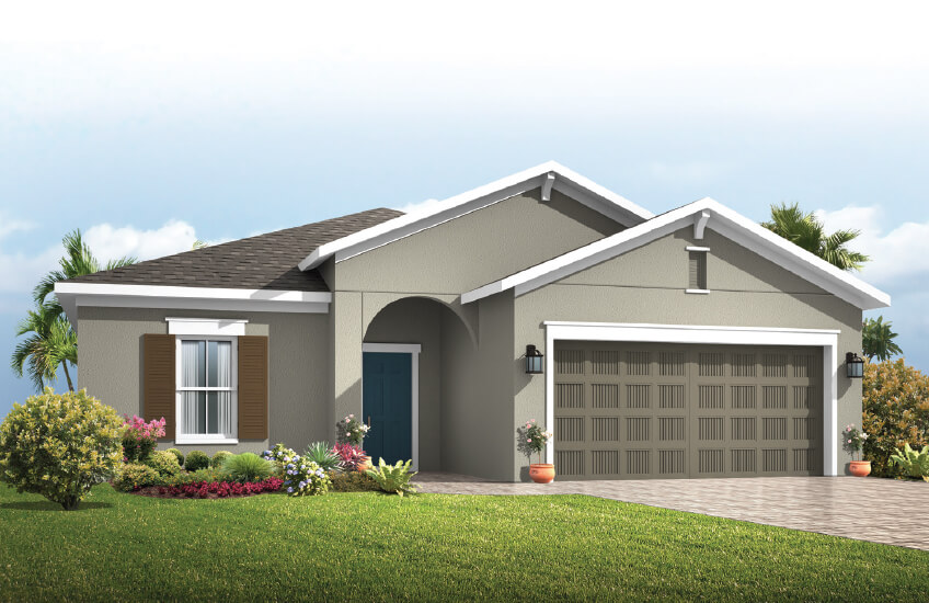 New Tampa Single Family Home Quick Possession Southampton in Sandhill Ridge, located at 11413 Tanner Ridge Place, Riverview, FL 33569 (LOT 30) Built By Cardel Homes