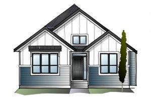 CAMBRIA COURT 2 - Farmhouse S4 Elevation - 2,584 sqft, 4 Bedroom, 3 Bathroom - Cardel Homes Calgary