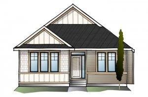CAMBRIA COURT 2 - Shingle S1 Elevation - 2,584 sqft, 4 Bedroom, 3 Bathroom - Cardel Homes Calgary