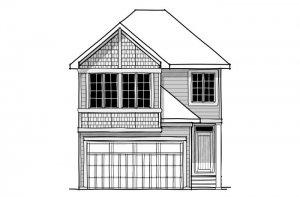 Strand 2 - Shingle S1 Elevation - 1,914 sqft, 4 Bedroom, 3.5 Bathroom - Cardel Homes Calgary