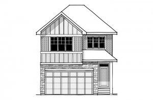 Strand 2 - Rustic S2 Elevation - 1,914 sqft, 4 Bedroom, 3.5 Bathroom - Cardel Homes Calgary