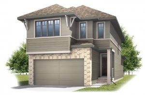 Strand 2 - Prairie S3 Elevation - 1,914 sqft, 4 Bedroom, 3.5 Bathroom - Cardel Homes Calgary
