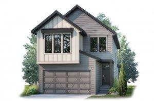 Strand 2 - Farmhouse S4 Elevation - 2,499 sqft, 4 Bedroom, 3.5 Bathroom - Cardel Homes Calgary