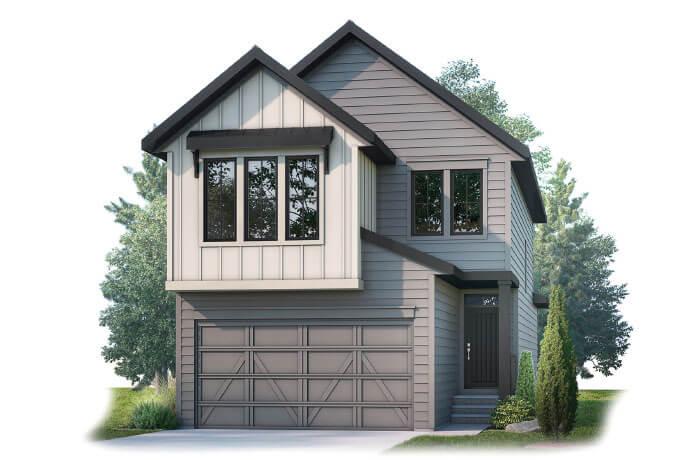 Strand 2 - Farmhouse S4 Elevation - 1,914 sqft, 4 Bedroom, 3.5 Bathroom - Cardel Homes Calgary