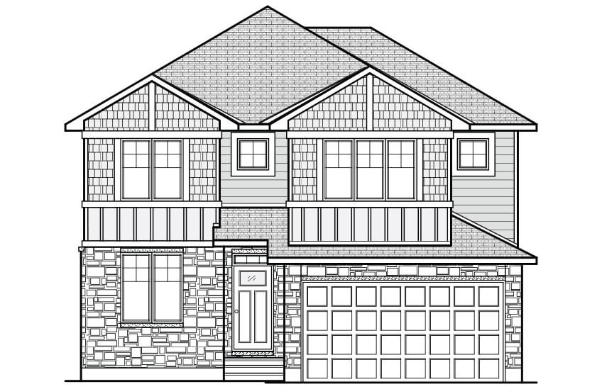 New Ottawa Single Family Home Quick Possession Cornell in Creekside, located at 4 Runnel Court Built By Cardel Homes