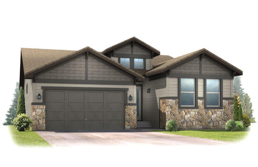 New Denver Single Family Home Quick Possession Pebble Beach in The Ridge, located at 6288 Dakota Ridge Drive Built By Cardel Homes Denver