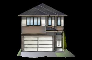 SP-STRAND-2-SP-PRAIIRE-S3 Elevation - 1,914 sqft, 3 Bedroom, 2.5 Bathroom - Cardel Homes Calgary