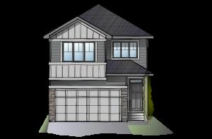 SP-STRAND-2-SP-RUSTIC-S2 Elevation - 1,914 sqft, 3 Bedroom, 2.5 Bathroom - Cardel Homes Calgary