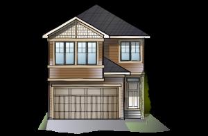 SP-STRAND-2-SP-SHINGLE-S1 Elevation - 1,914 sqft, 3 Bedroom, 2.5 Bathroom - Cardel Homes Calgary