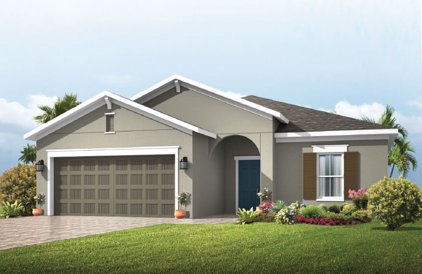 New Tampa Single Family Home Quick Possession Southampton in Waterset, located at 5637 Silver Sun Drive, Apollo Beach (LOT 10) Built By Cardel Homes