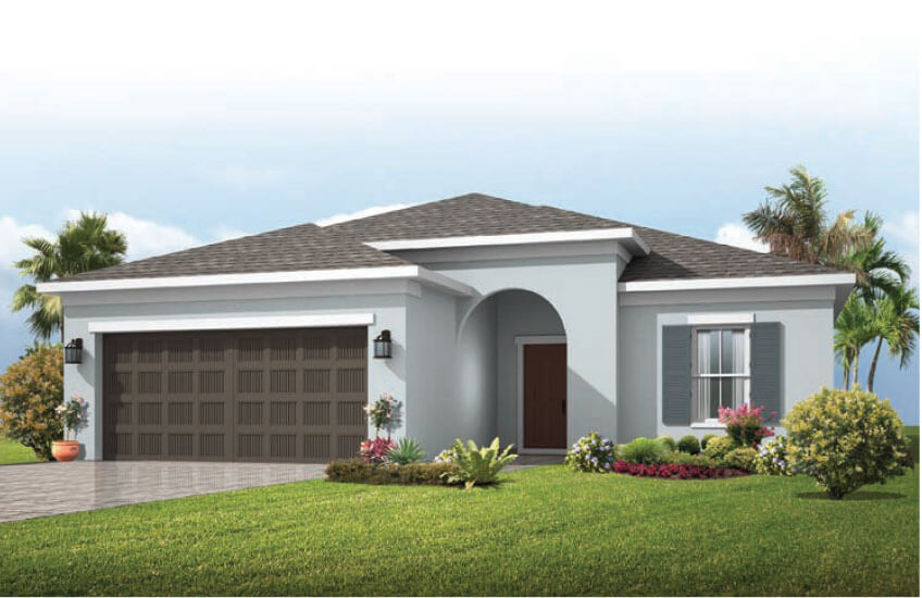 New Tampa Single Family Home Quick Possession Brighton in Sandhill Ridge, located at 11410 Tanner Ridge Place, Riverview, FL (LOT 3) Built By Cardel Homes Tampa