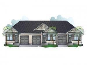 Quincy MC - Bungalow Town Elev. A Elevation - 1,342 sqft, 2 Bedroom, 2 Bathroom - Cardel Homes Ottawa