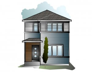 Soho 1 SF - Craftsman F2 Elevation - 1,233 sqft, 3 Bedroom, 2.5 Bathroom - Cardel Homes Calgary