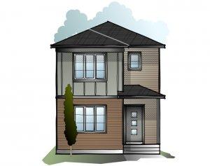 Soho 4 SF - Craftsman F2 Elevation - 1,309 sqft, 3 Bedroom, 2.5 Bathroom - Cardel Homes Calgary