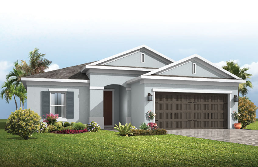 New Tampa Single Family Home Quick Possession Brighton in Waterset, located at 5807 Silver Sun Drive, Apollo Beach (LOT 32) Built By Cardel Homes