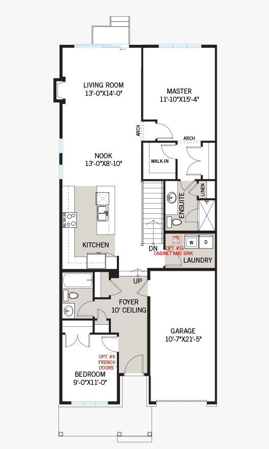 The Bryant (Lot 185) home main floor quick possession in Millers Crossing in Carleton Place, located at 158 Rathwell Street Ottawa Built By Cardel Homes