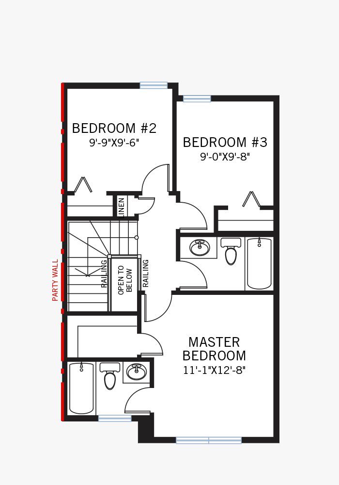 The Soho 1X home upper floor quick possession in Walden, located at 13 Walcrest Gate Calgary Built By Cardel Homes