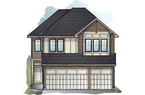 Fairmont - Shingle S4 Elevation - 2,865 sqft, 4 Bedroom, 3.5 Bathroom - Cardel Homes Calgary