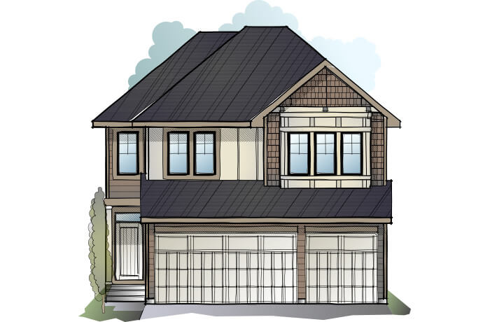 New home in FAIRMONT in Shawnee Park, 2,865 SQFT, 4 Bedroom, 3.5 Bath, Starting at 850,000 - Cardel Homes Calgary
