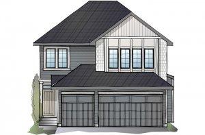 Grafton - Shingle S1 Elevation - 2,408 sqft, 4 Bedroom, 3.5 Bathroom - Cardel Homes Calgary