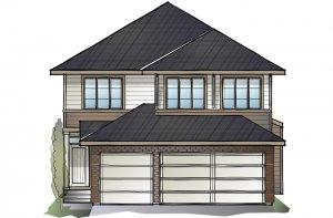 Grafton - Prairie S3 Elevation - 2,408 sqft, 4 Bedroom, 3.5 Bathroom - Cardel Homes Calgary