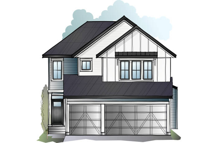 New home in GRAFTON in Shawnee Park, 2,408 SQFT, 4 Bedroom, 3.5 Bath, Starting at 690,000 - Cardel Homes Calgary