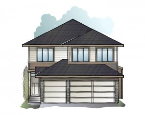 Grafton - Prairie S3 Elevation - 2,408 sqft, 4 Bedroom, 3.5 Bathroom - Cardel Homes Calgary