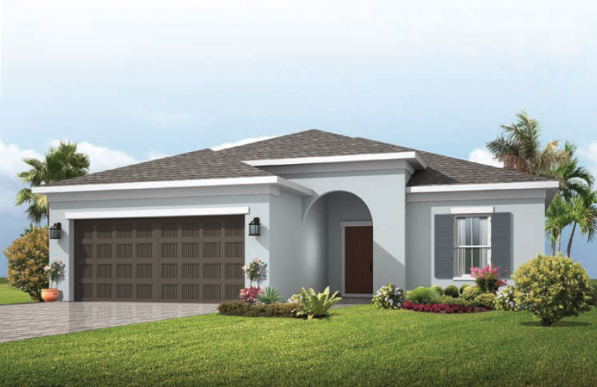 New Tampa Single Family Home Quick Possession Brighton in Waterset, located at 5633 Silver Sun Drive, Apollo Beach (LOT 11) Built By Cardel Homes