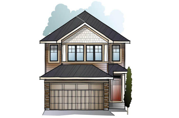 New home in EVO 1 in Shawnee Park, 2,014 SQFT, 3 Bedroom, 2.5 Bath, Starting at 550,000 - Cardel Homes Calgary