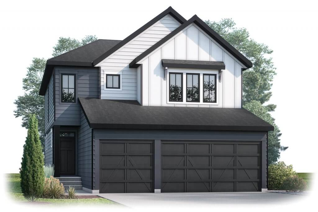 Grafton Elevation - 2,408 sqft, 4 Bedroom, 3.5 Bathroom - Cardel Homes Calgary
