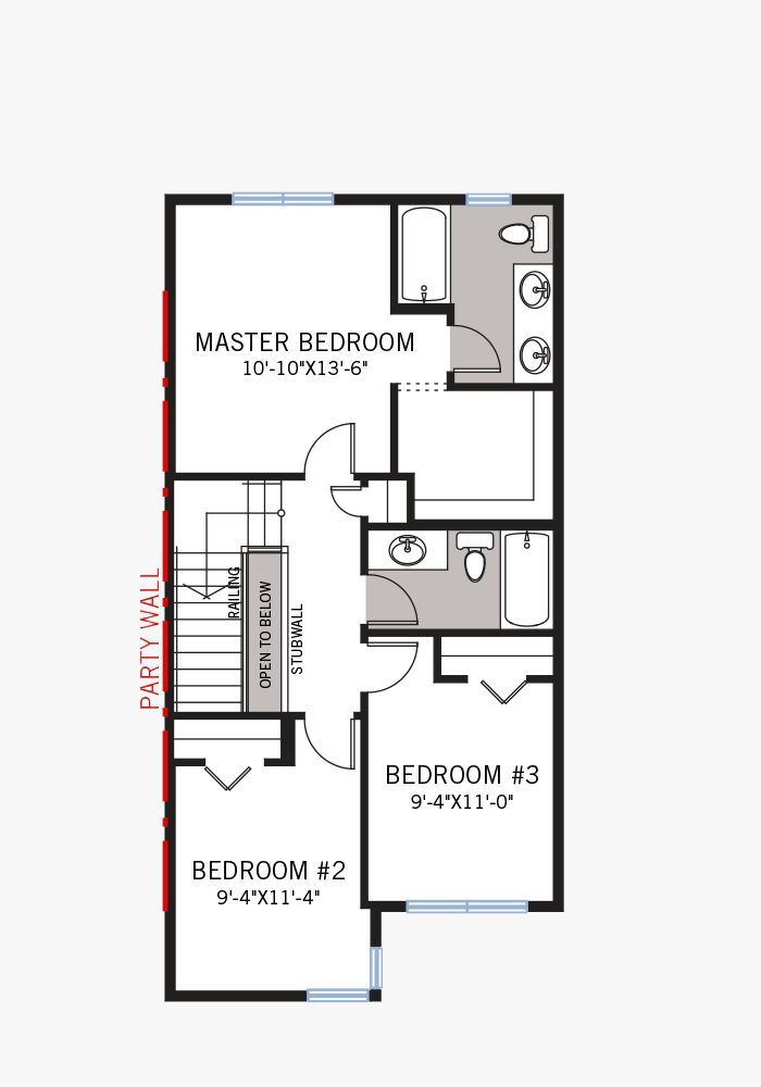 The Indigo 1 home upper floor quick possession in Walden, located at 69 Walcrest Gate SE Calgary Built By Cardel Homes