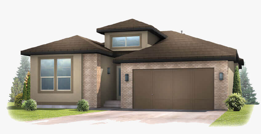 New Calgary Single Family Home Augusta in Shawnee Park, located at 6302 Dakota Ridge Dr. Built By Cardel Homes Calgary