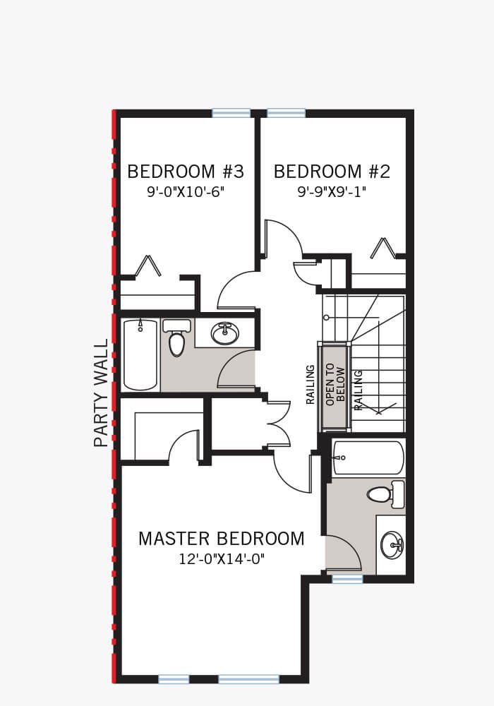 The Cobalt 2 home upper floor quick possession in Walden, located at 108 Walgrove Drive Calgary Built By Cardel Homes