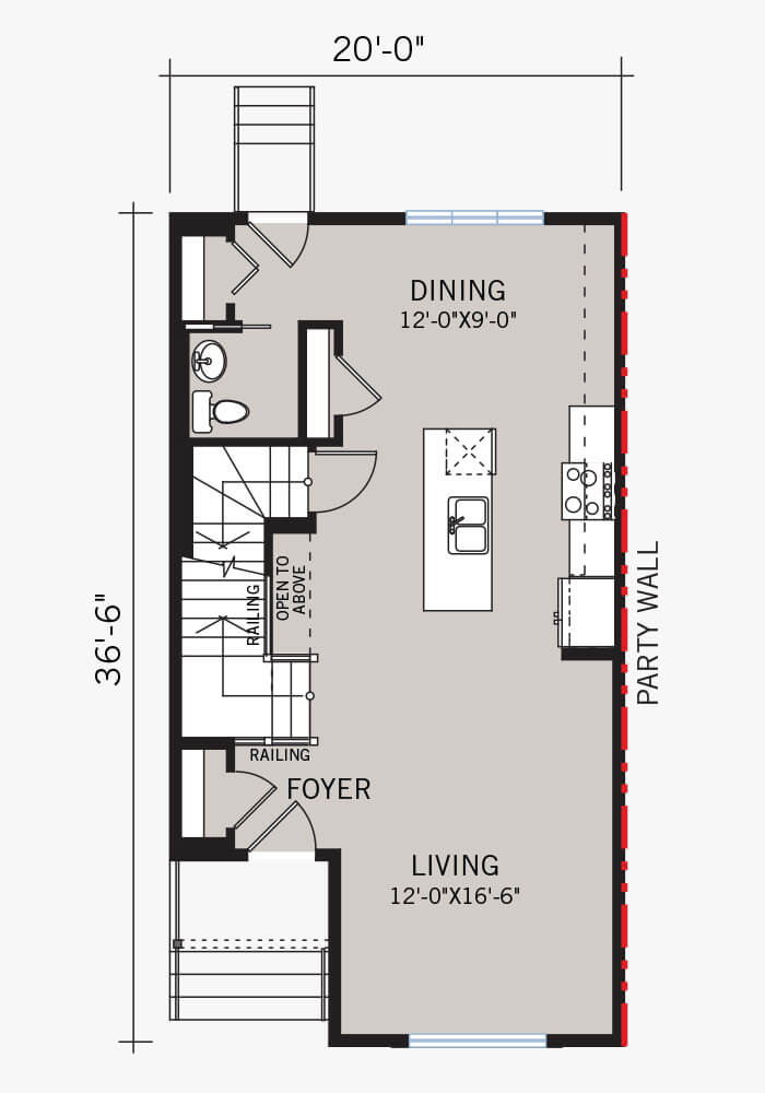 The Cobalt 3 home main floor quick possession in Walden, located at 112 Walgrove Drive  Calgary Built By Cardel Homes