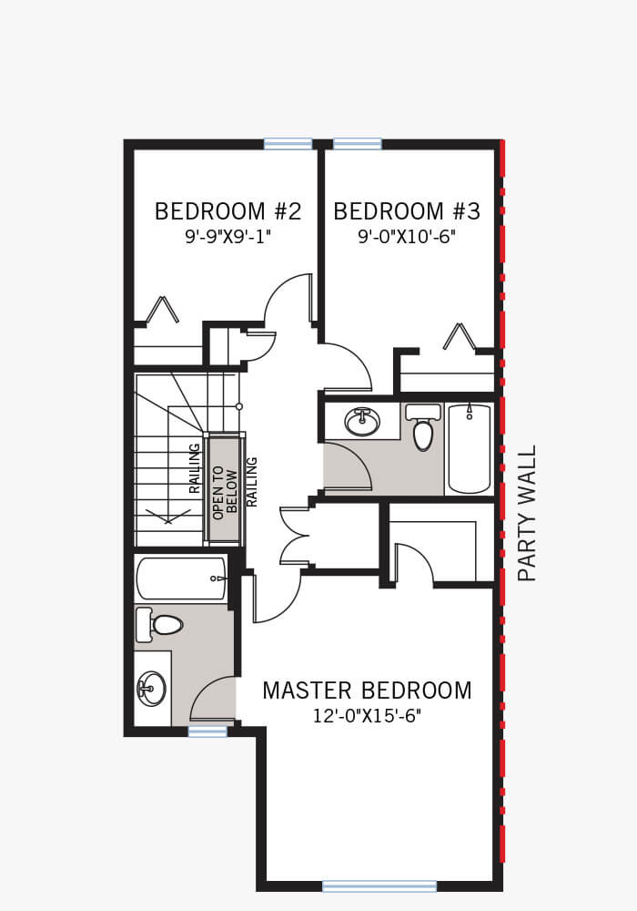 The Cobalt 3 home upper floor quick possession in Walden, located at 112 Walgrove Drive  Calgary Built By Cardel Homes