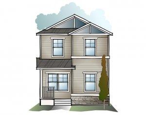 Indigo 1 SF - Craftsman C1 Elevation - 1,525 sqft, 3 Bedroom, 2.5 Bathroom - Cardel Homes Calgary