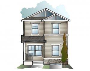 Indigo 2 SF - Craftsman C1 Elevation - 1,534 sqft, 3 Bedroom, 2.5 Bathroom - Cardel Homes Calgary