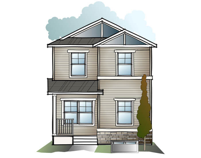 New home in INDIGO 1 in Cornerbrook, 1,525 SQFT, 3 Bedroom, 2.5 Bath, Starting at 360,000 - Cardel Homes Calgary