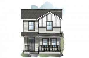 Cole CBR - Farmhouse C3 Elevation - 1,508 sqft, 3 Bedroom, 2.5 Bathroom - Cardel Homes Calgary
