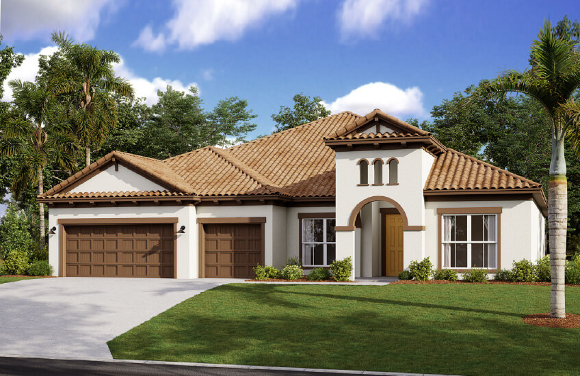 New Tampa Single Family Home Quick Possession Henley in Worthington, located at 4625 Antrim Drive Built By Cardel Homes