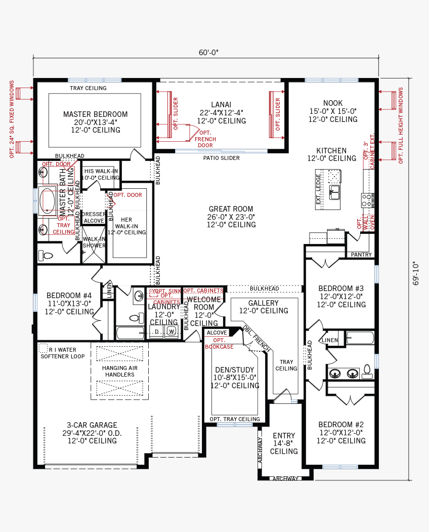 The Henley home main floor quick possession in Worthington, located at 4625 Antrim Drive Tampa Built By Cardel Homes