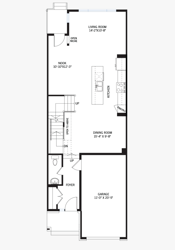 The Cardinal home main floor quick possession in Blackstone in Kanata South, located at 453 Cope Drive Ottawa Built By Cardel Homes