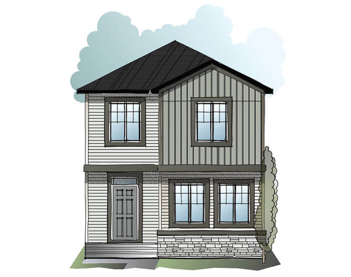 New home in COLE in Cornerbrook, 1,508 SQFT, 3 Bedroom, 2.5 Bath, Starting at 380,000 - Cardel Homes Calgary