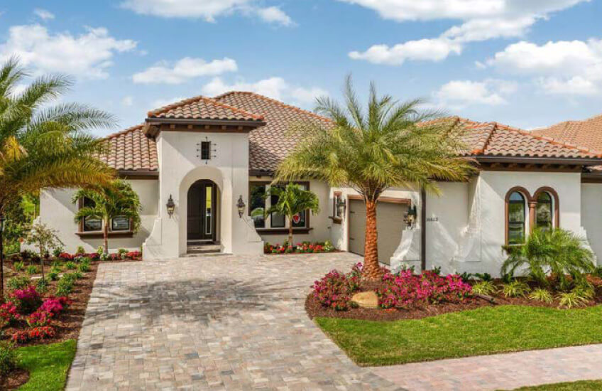 New Tampa Single Family Home Quick Possession Toriana in Lakewood Ranch, located at 16613 Berwick Terrace, Lakewood Ranch, FL 34202 Built By Cardel Homes