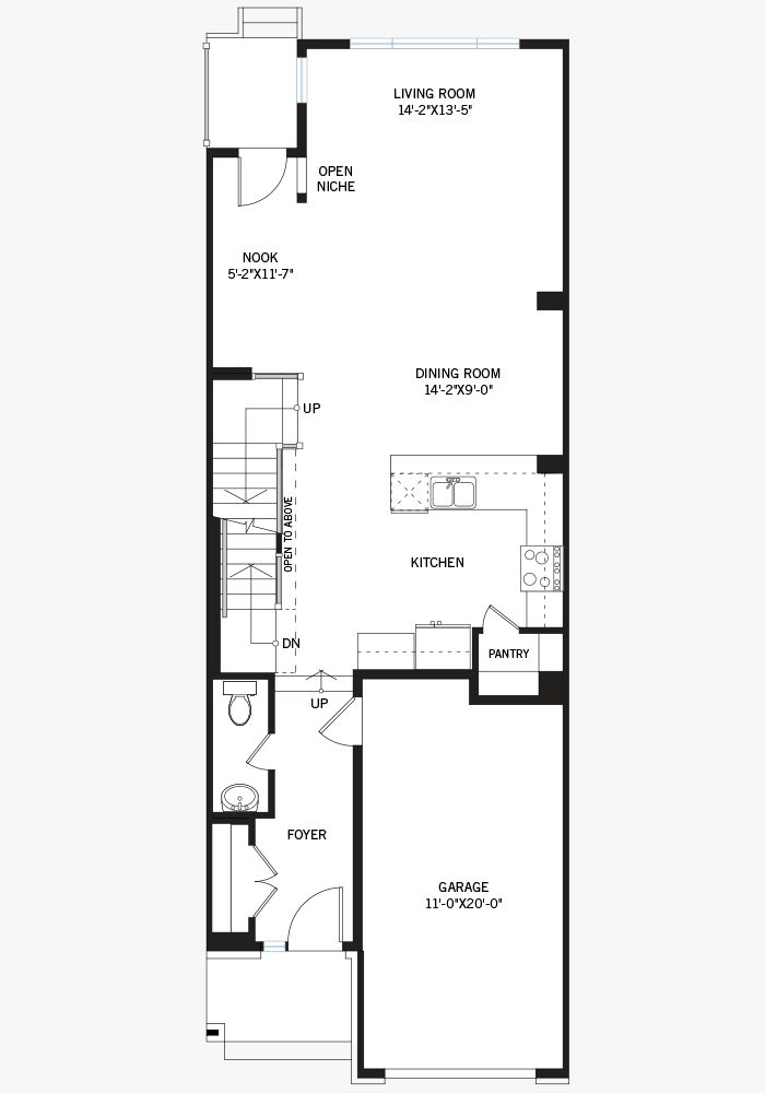 The Heron home main floor quick possession in Blackstone in Kanata South, located at 449 Cope Drive Ottawa Built By Cardel Homes