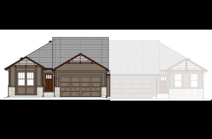 Pine - LC - Elevation A Elevation - 1,627 sqft, 2 Bedroom, 2 Bathroom - Cardel Homes Denver