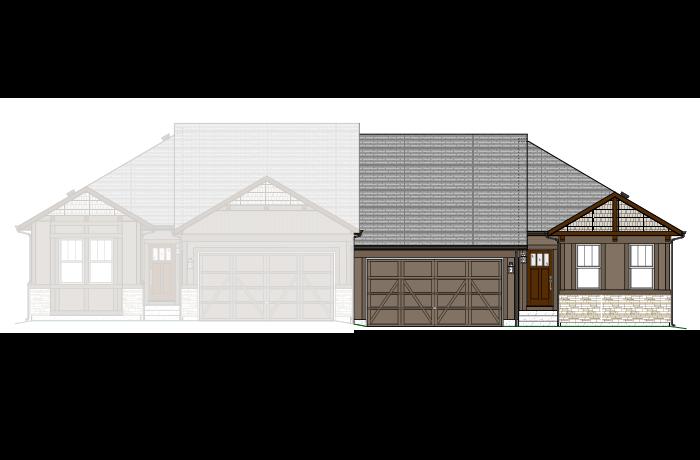 Maple - LC - Elevation A Elevation - 1,532 sqft, 2 Bedroom, 2 Bathroom - Cardel Homes Denver
