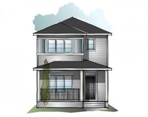 Soho 4 SF - Prairie C2 Elevation - 1,309 sqft, 3 Bedroom, 2.5 Bathroom - Cardel Homes Calgary