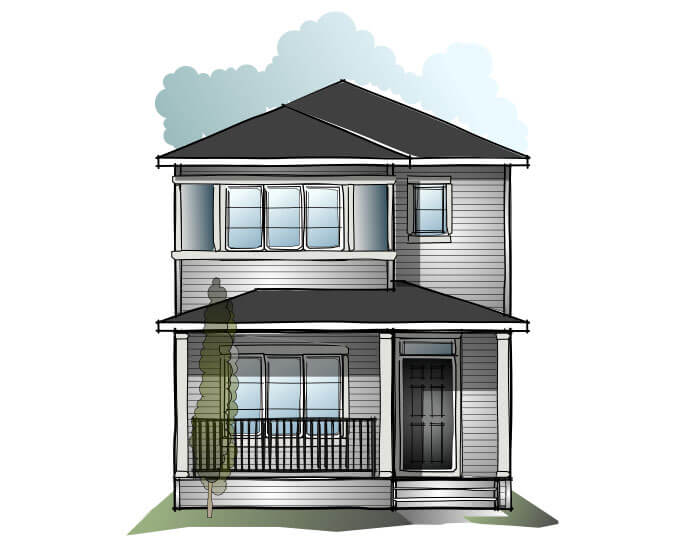 New home in SOHO 4 in Cornerbrook, 1,309 SQFT, 3 Bedroom, 2.5 Bath, Starting at  - Cardel Homes Calgary